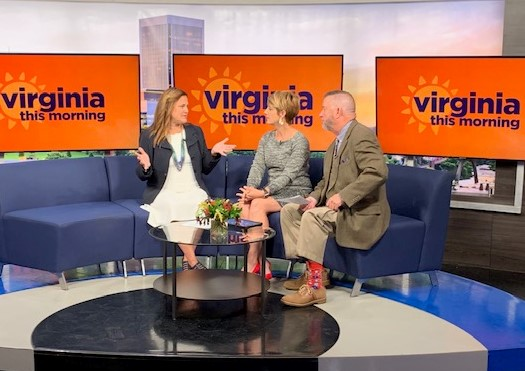 Alison Conners talking about CEO Curator on Virginia This Morning